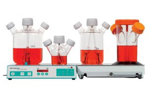 CELLSPIN with spinner flasks for optimal cell cultivation